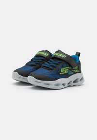 Skechers - VORTEX FLASH - Tenisky - black/blue/lime - 1