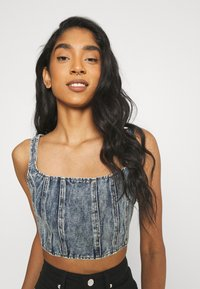 Missguided - CORSET - Top - blue - 3