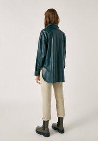 PULL&BEAR - Faux leather jacket - mottled dark green - 2