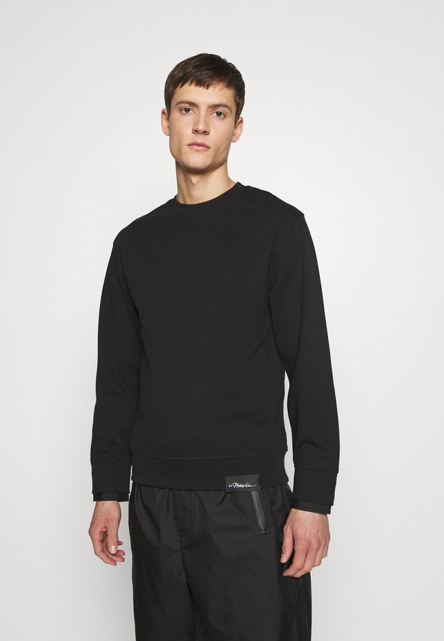 CLASSIC CREWNECK CUFFS - Sweater - black