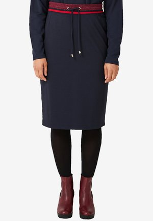 MIT GLITZER - Pencil skirt - navy