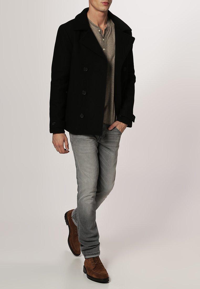 Pier One - Halflange jas - black