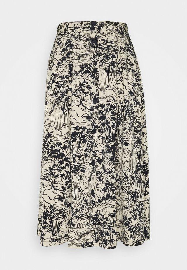 SIGRID SKIRT - A-line skirt - blue dark  landscape