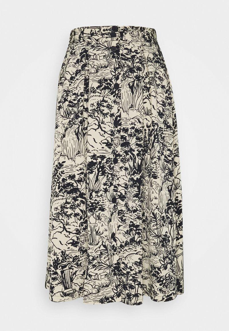 Monki - SIGRID SKIRT - A-line skirt - blue dark  landscape