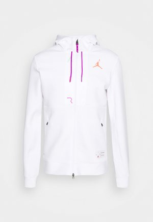 AIR FLEECE FULL ZIP - Sweat à capuche - white/vivid purple/infrared