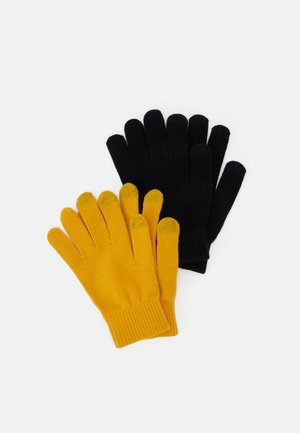 2 PACK - Gloves - mustard yellow/black