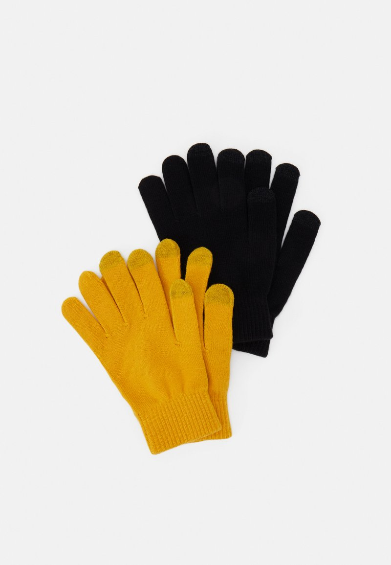 Even&Odd - 2 PACK - Gloves - mustard yellow/black