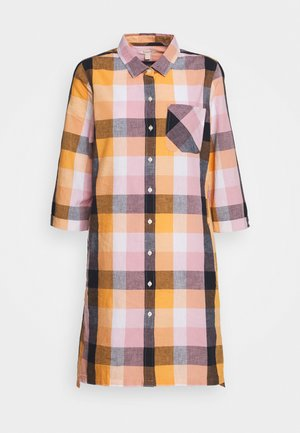 SEAGLOW DRESS - Shirt dress - blue/sunstone orange