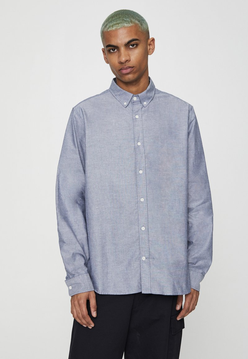 PULL&BEAR - BASIC - Shirt - mottled light blue