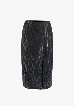 Pencil skirt - silver black