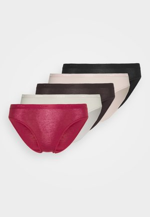 POCKET ECODIMBRIEF 5 PACK - Briefs - nacre/pink/brown/red/black