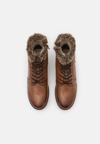 Anna Field - LEATHER - Lace-up ankle boots - cognac - 4