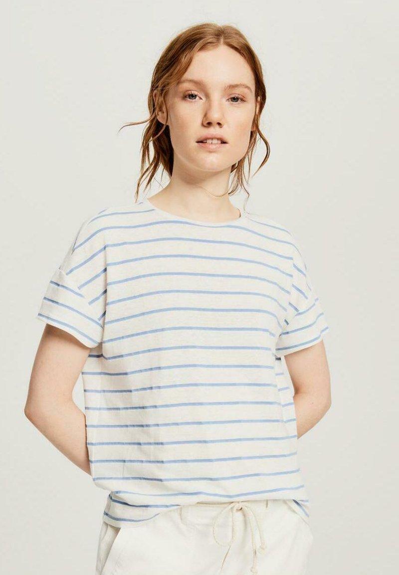 Opus - Print T-shirt - blue