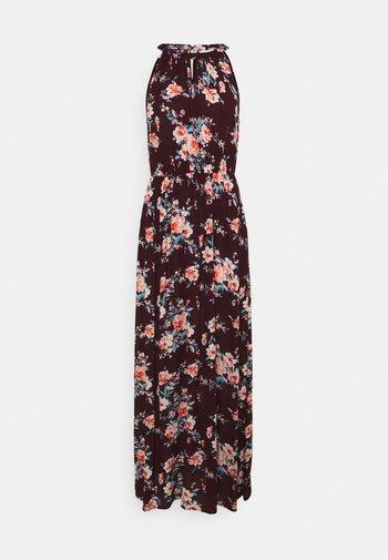 VIMESA MAXI DRESS - Maxi dress - winetasting/pink blue/navy