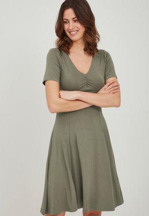 FRANSA - Jersey dress - hedge