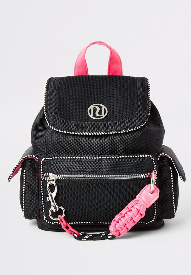 GIRL BLACK POCKET FRONT UTILITY BACKPACK - Sac à dos - black