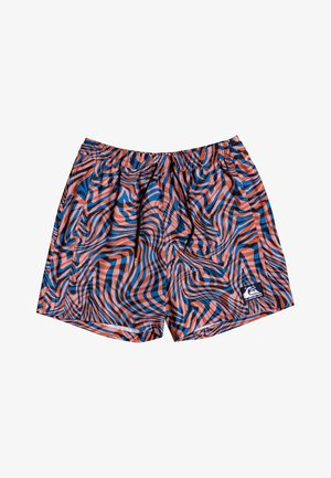 "OUT THERE 17"" - Swimming shorts - vibrant orange wildlife"