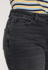 Even&Odd Curvy - Slim fit jeans - black denim - 4