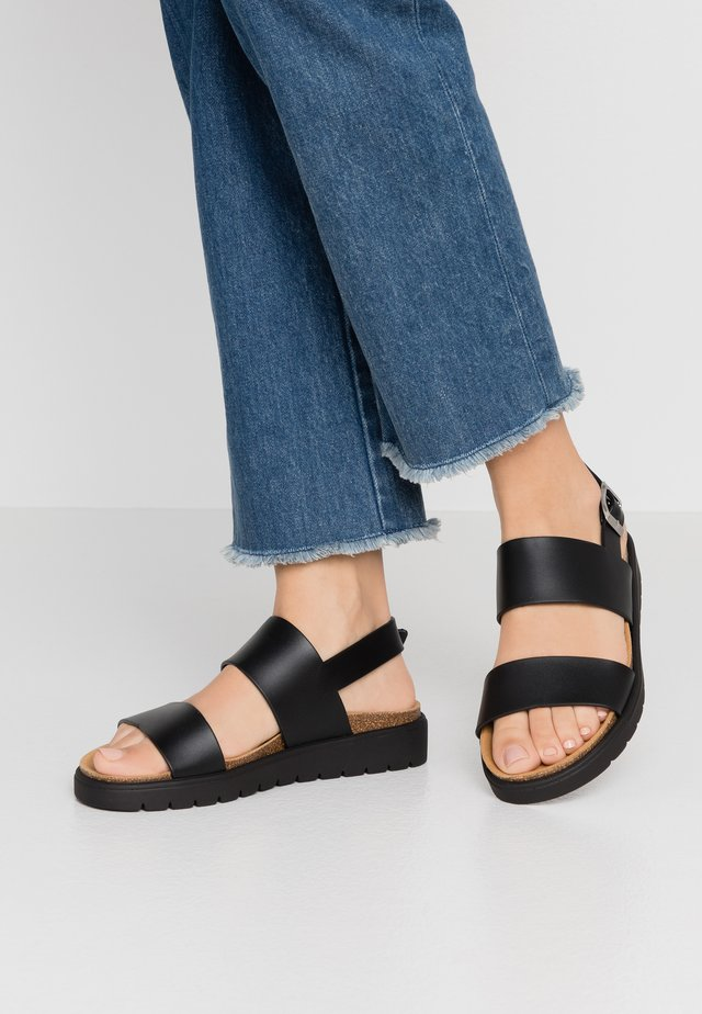 VEGAN ASHAI - Sandals - black/natural