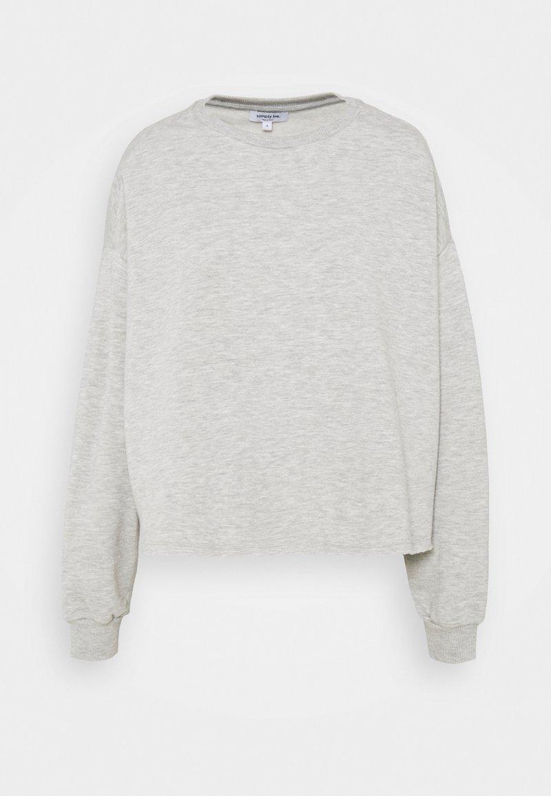 Simply Be - BOXY - Sweatshirt - light grey