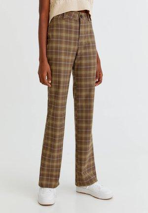 KARIERTE BASIC - Pantaloni - mottled light brown