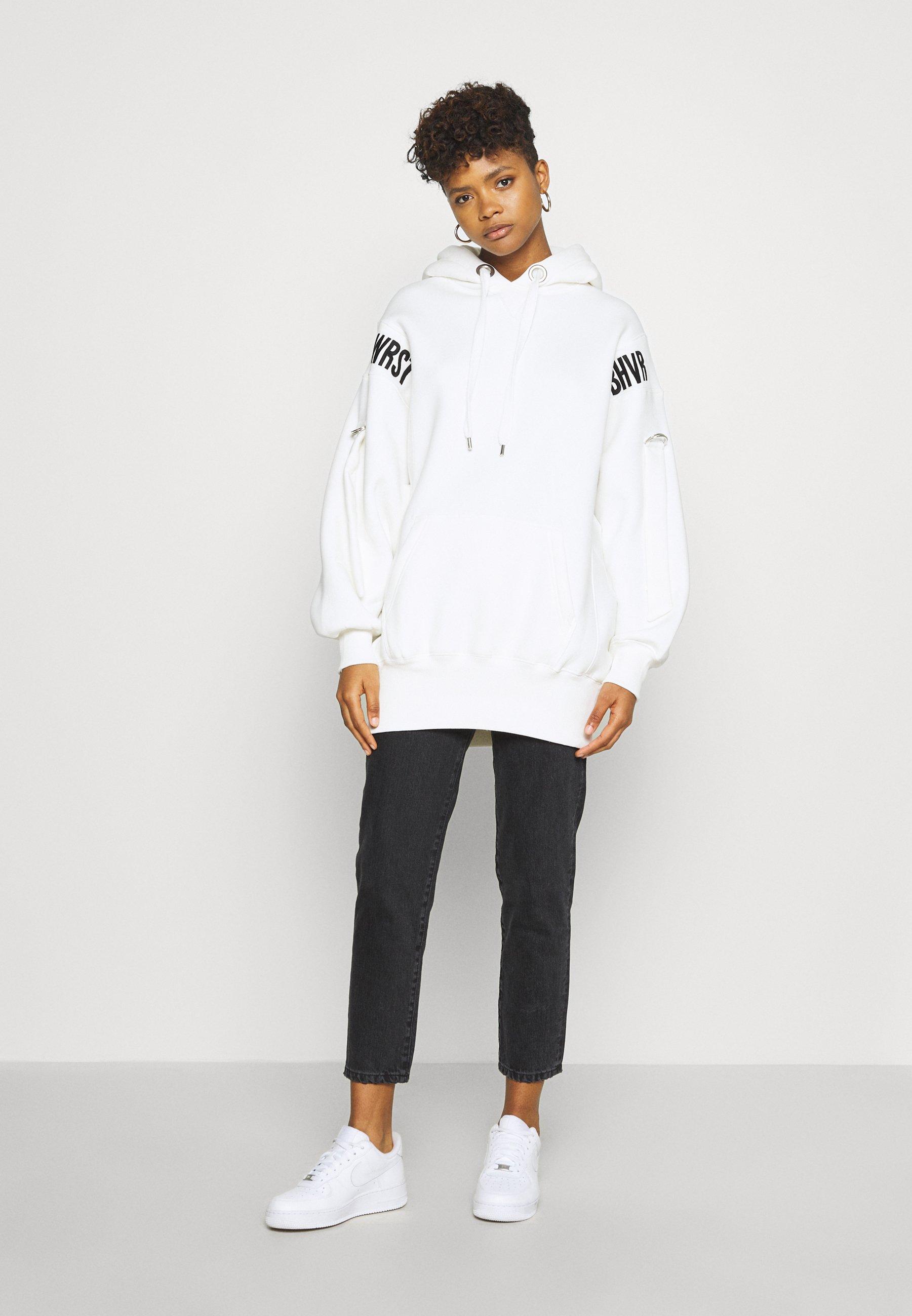 Wrstbhvr Hoodie Dress Error - Kjole Off-white/offwhite
