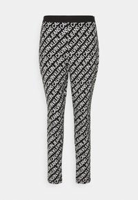 Calvin Klein Jeans - MILANO LOGO  - Leggings - Trousers - institutional black - 4