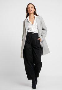 Even&Odd Petite - Classic coat - mottled light grey - 1