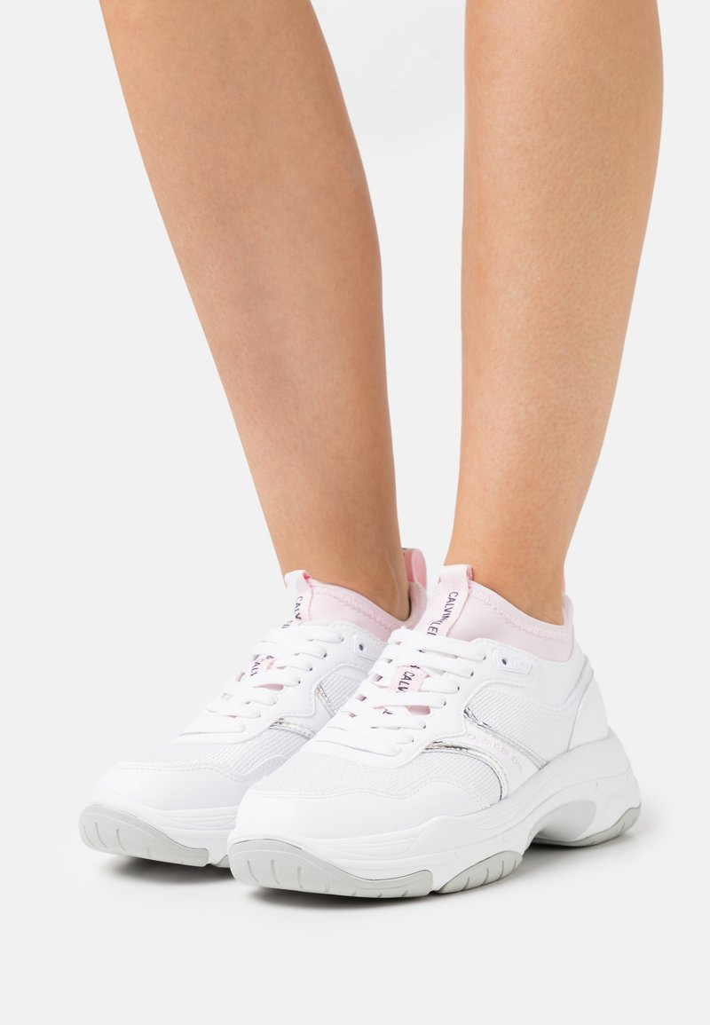 Calvin Klein Jeans - CHUNKY SOLE SOCK LACEUP - Trainers - bright white