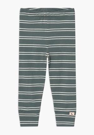 STRIPE - Legginsy - steel