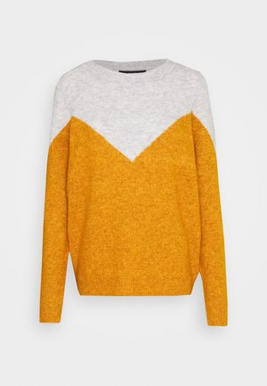VMPLAZA - Jersey de punto - light grey melange/buckthorn