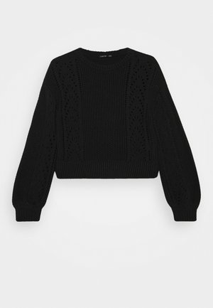 NLFDREW SHORT O NECK - Strikpullover /Striktrøjer - black