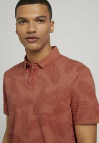 TOM TAILOR DENIM - Polo shirt - orange palm leaves print - 3