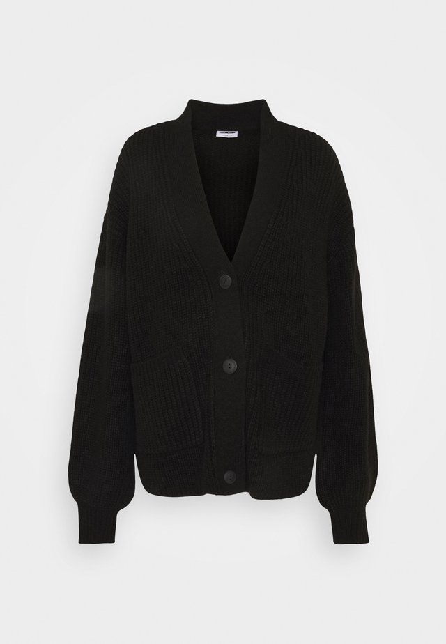 NMTOMMY CARDIGAN - Vest - black
