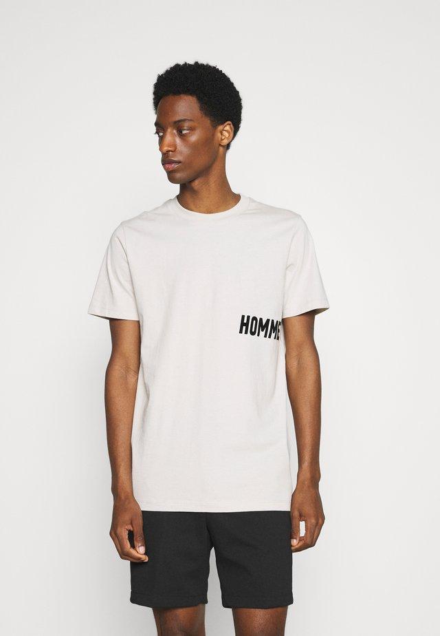 SLHDRILL ONECK TEE  - T-shirt z nadrukiem - moonstruck