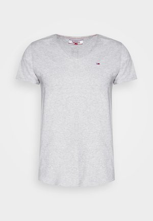 BASIC VNECK TEE SLIM FIT - Print T-shirt - grey heather