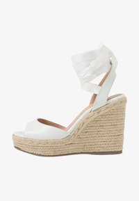 New Look - PADY TIE UP WEDGE - Sandalias de tacón - white - 1