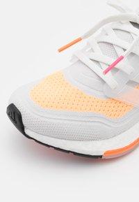 adidas Performance - ULTRABOOST 21 - Neutral running shoes - crystal white/acid orange - 5