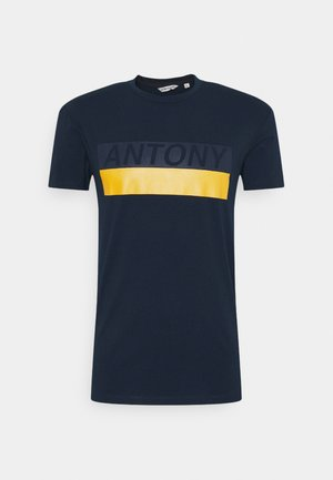 SLIM FIT - T-shirt print - avio blu