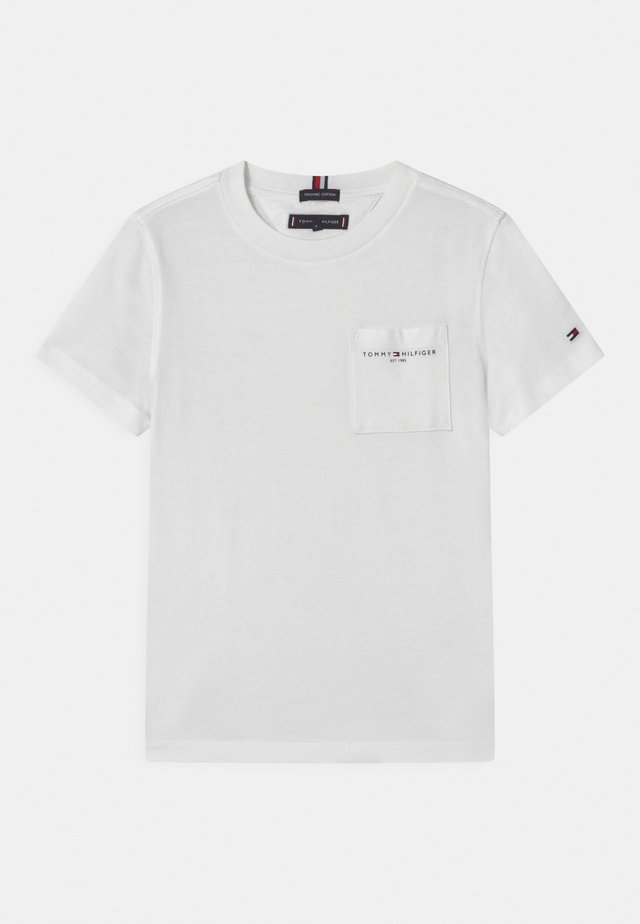 ESSENTIAL POCKET  - T-paita - white