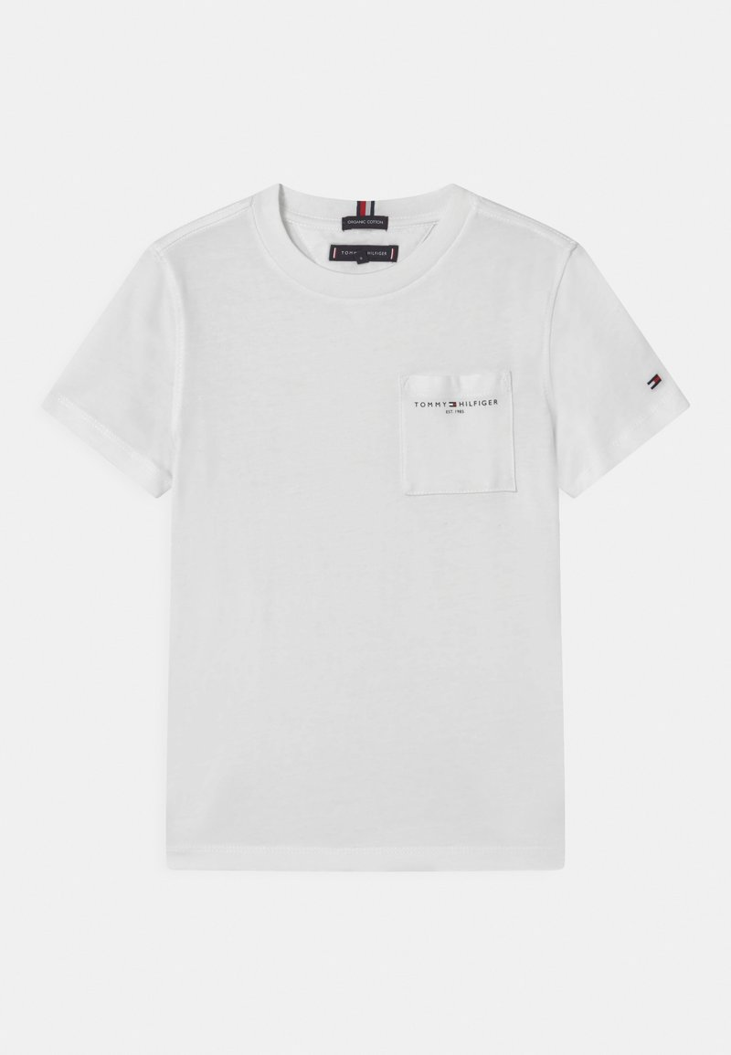 Tommy Hilfiger - ESSENTIAL POCKET  - Jednoduché triko - white