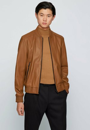 MALBAN - Leather jacket - brown
