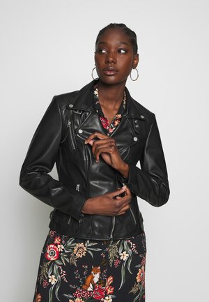 VEGAN BIKER PRINCESS - Faux leather jacket - black