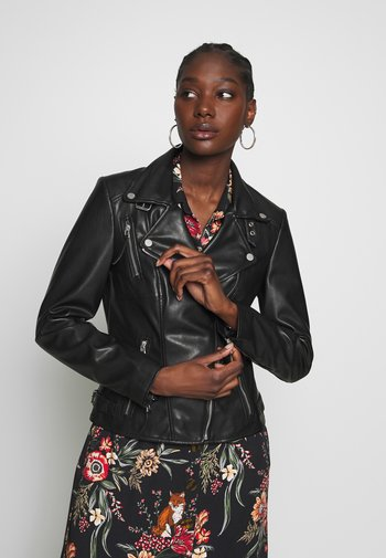 VEGAN BIKER PRINCESS - Faux leather jacket - black