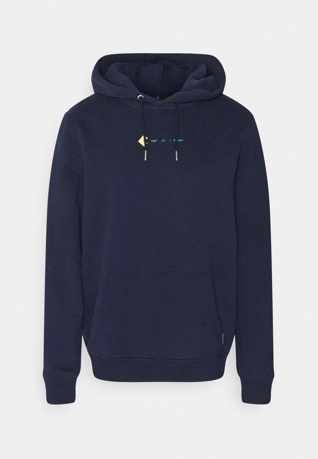 CASUAL HOODIE #TRASHMAN - Sweatshirt - navy