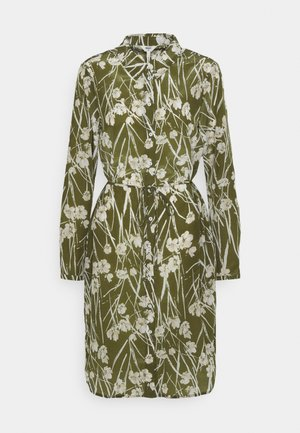 OBJAMENA SHIRT DRESS - Paitamekko - burnt olive