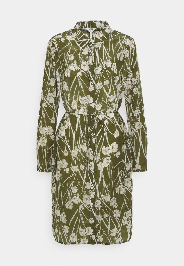 OBJAMENA SHIRT DRESS - Paitamekko - burnt olive