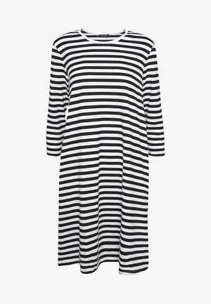 ARETTA DRESS - Jerseykjole - white/black