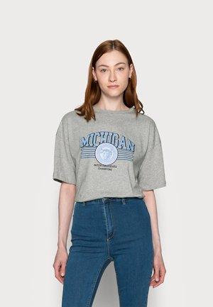 MICHIGAN DROP SHOULDER - Print T-shirt - grey marl