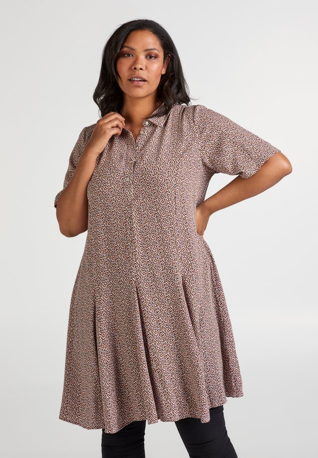 Shirt dress - dusty rose